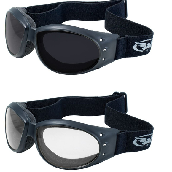 477f54abf0a94 2 Horseback Motorcycle Goggles Super Dark Clear. Boutique. Global Vision